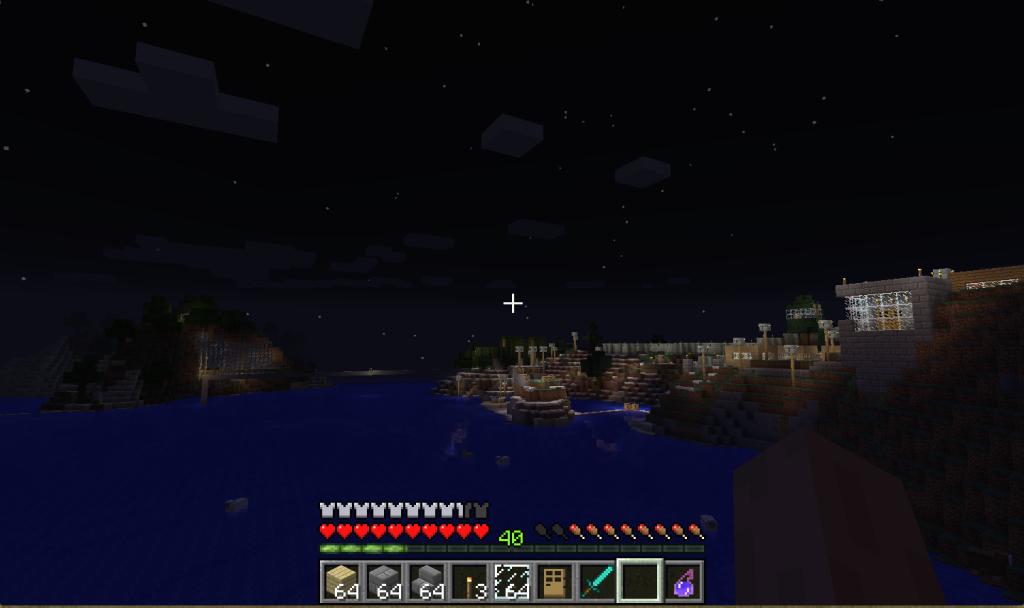 海から見る町並み