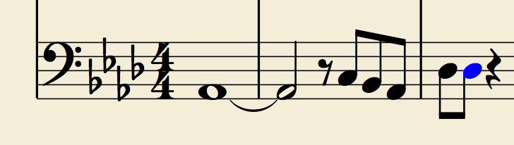 ベースのロングトーンのイメージ