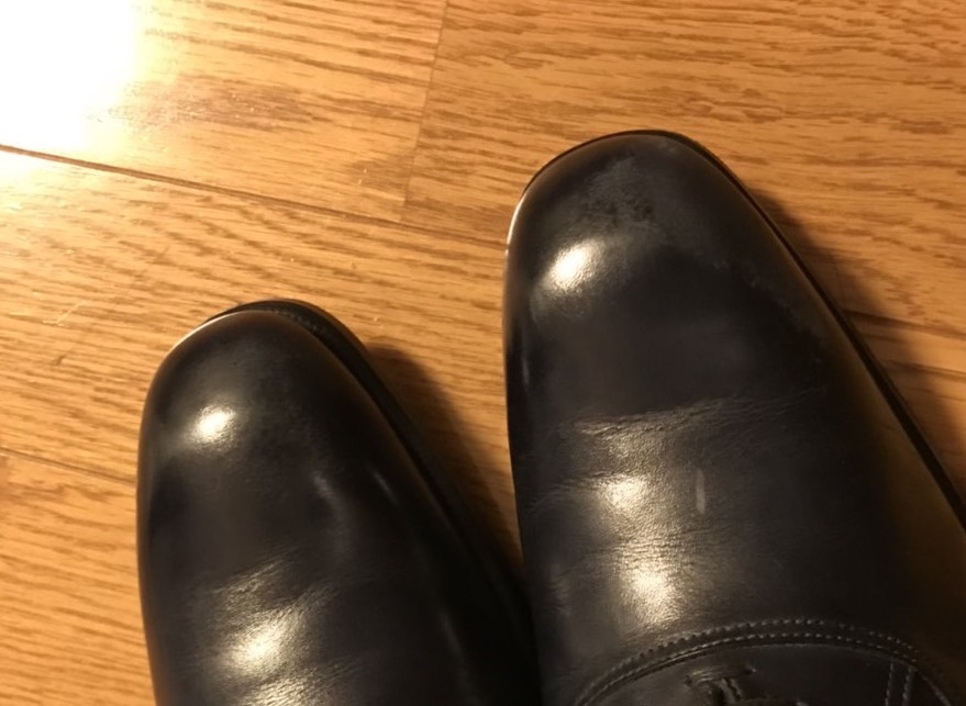 【靴磨き】鏡面磨きに失敗してつま先が剥がれたので死ぬ気で直してみた